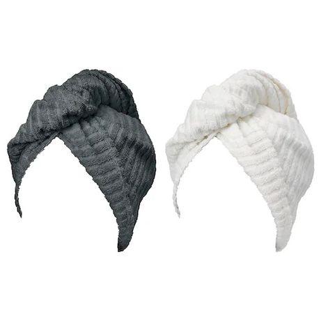 Полотенце-тюрбан для волос 100% хлопок IKEA комплект из 2 шт