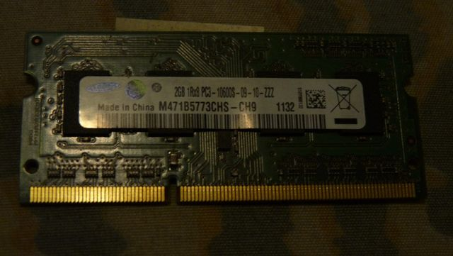 Оперативная память для ноутбука SAMSUNG 2х2 Gb SODIMM DDR3