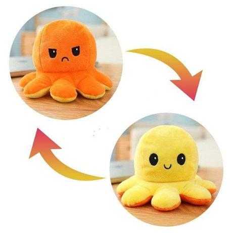 Осьминожка перевертыш мягкая игрушка осьминог двухсторонний   ОПТ