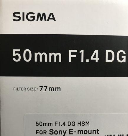 Sigma art 50mm 1.4 do sony E zamienię na 35mm