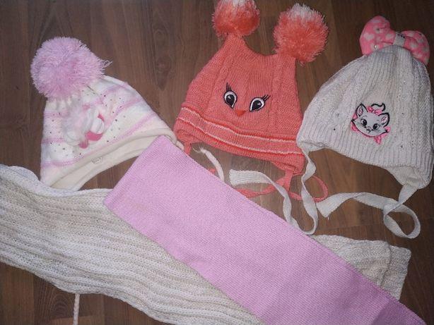 Шапка весенние и зимние, шарф, перчатки. 9шт. Шапка - Собака