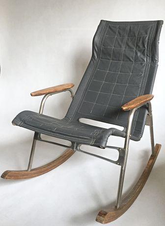 Fotel bujany składany Takeshi Nii - Loft - Design - Vintage - Modern