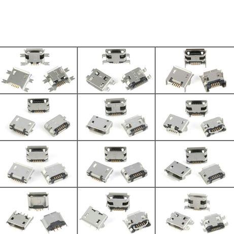 Micro USB 5 pin разьемы, коннектор, гнездо 60 штук, 12 видов.