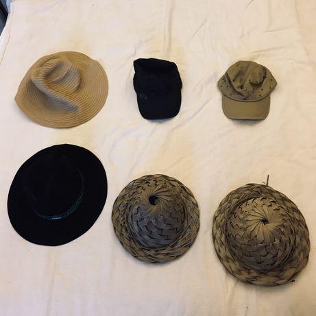 Lote de 6 chapéus