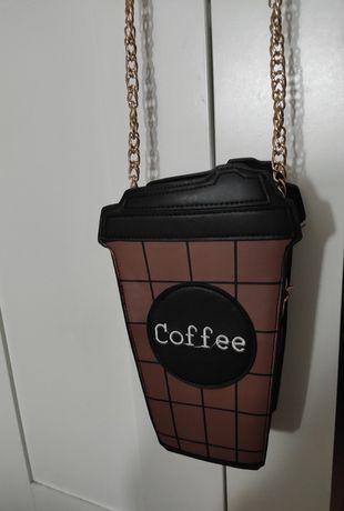 Nowa zabawna torebka kubek kawy kawa coffee łańcuch