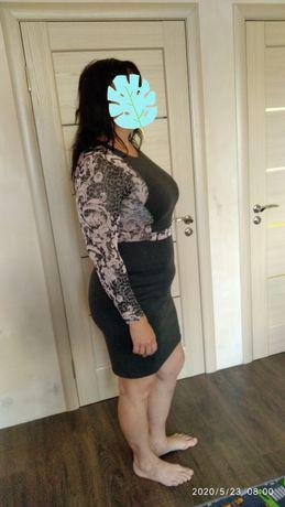 Платье трикотаж# штаны# 48-50 размер