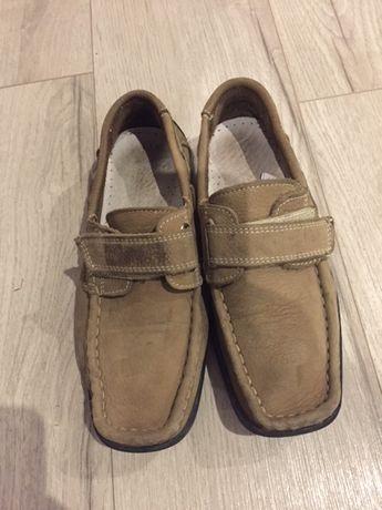 Туфли кожаные светло коричневый замша роз 31