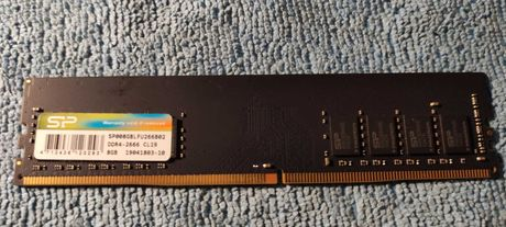 Memória RAM DDR4  (1 x 8 GB - 2666 MHz - CL 19 - Preto)