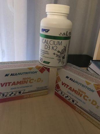 Calcium D3 K2 Witamina C + D3 SFD ALLNUTRITION