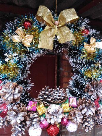 Новогодний Рождественский веночек. Декор.