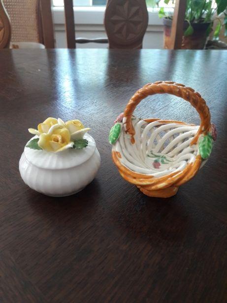 Puzderko i koszyczek - porcelana (S.96)