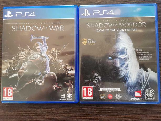 Shadow of War & Shadow of Mordor 2 gry w cenie 1 Ps4