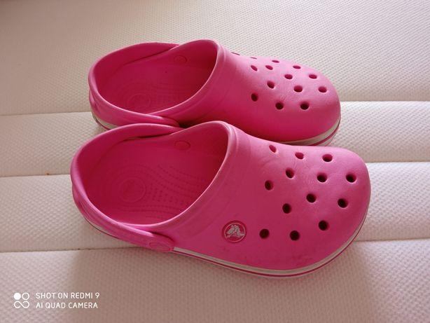 Crocs rosa J3 como novos