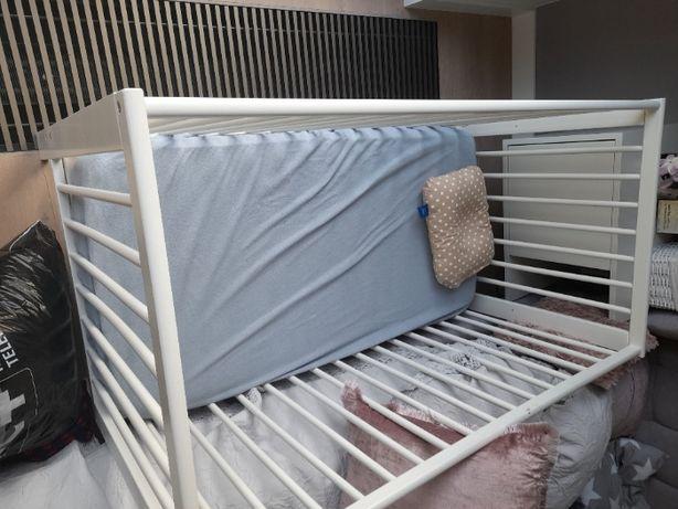 łóżeczko IKEA GULLIVER 60 x 120 + materac + pościel