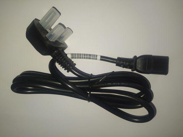 Kabel zasilający komputerowy. 1,8m Wtyk UK
