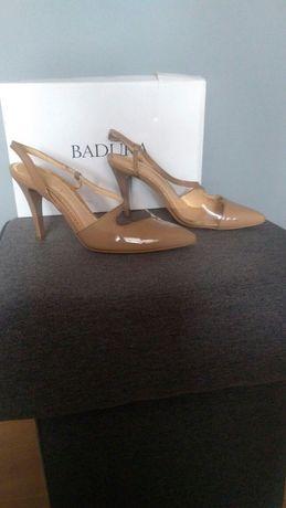 Sandały czółenka Badura 38 skóra