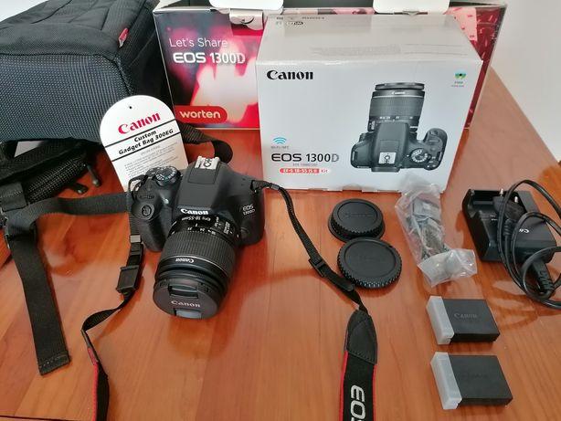 Canon eos 1300D nova com 2 lentes e extras