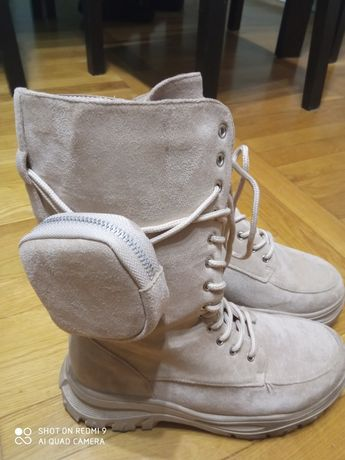 Śliczne wysokie buty rozmiar 38