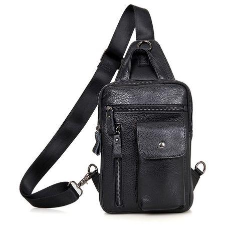 """Рюкзак сумка через плече слинг сумка кожаная """"Стиляга"""" 100%кожа"""