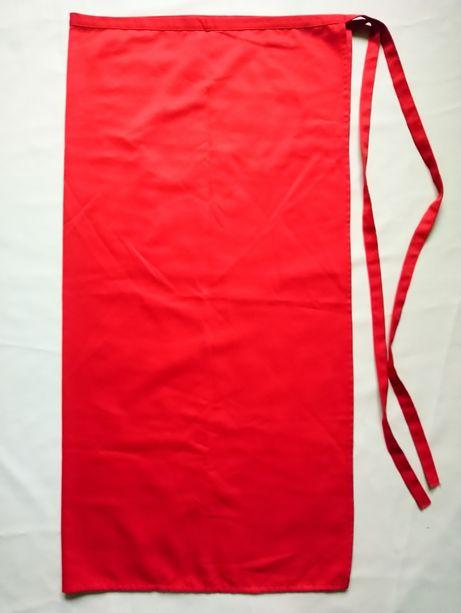 Червоний довгий кухонний кулінарний фартух