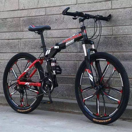Новенький велосипед со складной рамой на литых 26 дисках