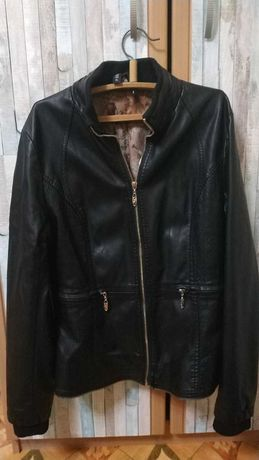 Черная кожаная куртка Размер М и Л , бесплатная доставка укрпочтой