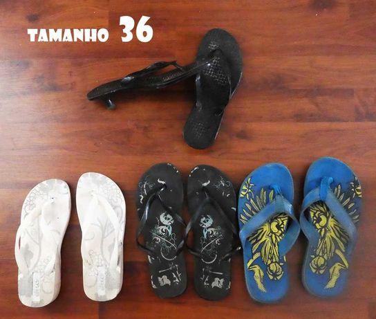 3 sandálias havaianas mulher (tamanho 36)