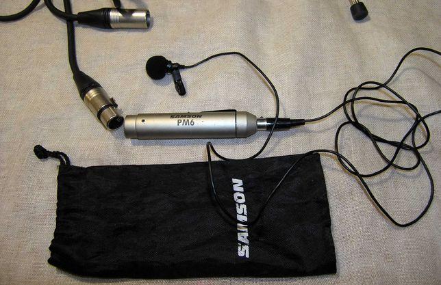 профессиональный петличный микрофон                SAMSON  PM-6