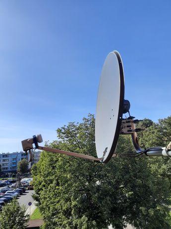 Atena satelitarna Triax szara z konwerterem i uchwytem