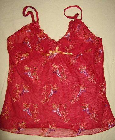 Koronkowa nocna koszulka w kolorze czerwonym rozmiar 38 - 40