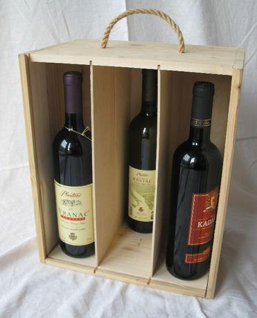 Pudełko skrzynka drewniana na 6 win, zwymiarowane 30x20x35