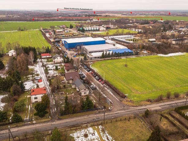 Hale przemysłowe wraz z powierzchnią biurową przy trasie A1