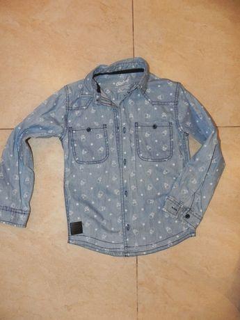 Koszula jeansowa 122cm. IDEALNA