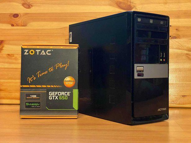 Komputer do gier/internetu/prac biurowych GTX 650, G4560, 8RAM, SSD
