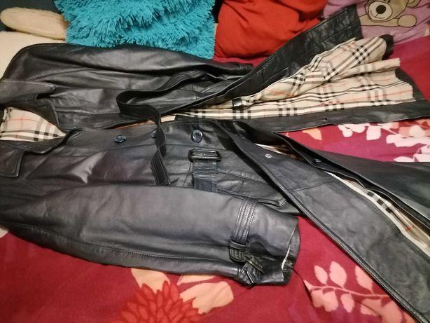 Płaszcz Skóra naturalna Piękny Długi Gothic Jak nowyRozXL