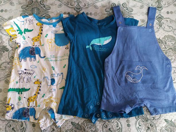 Летняя детская одежда песочник,шорты,поло,рубашка