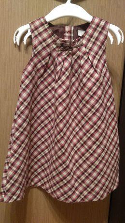 Sukienka krata kratka bordo wrzos r. 92 plus sweterek r. 86 święta
