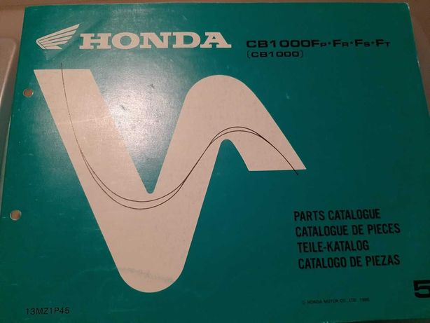 Honda CB1000F Big One  93-96 Livro de pecas