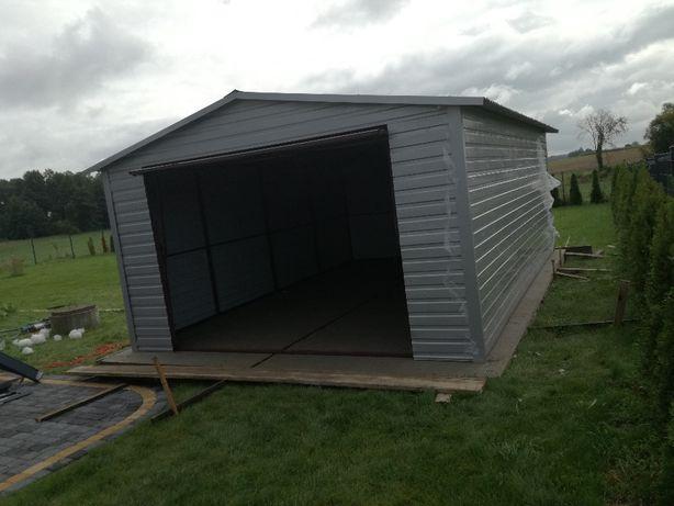 garaże blaszane, garaż 4x6 dach dwuspadowy, transport i montaż gratis