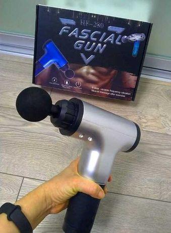Массажер портативный ручной вибро для мышц Fascial Gun HF-280