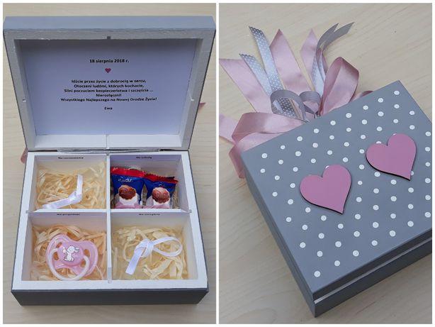 Prezent na ślub wesele dla Młodej Pary upominek pudrowy róż