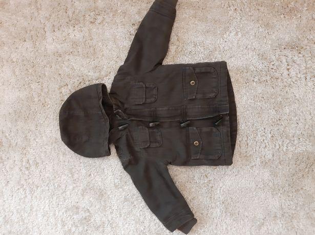 Демисезонная Парка на меху коричневая клетчатая куртка
