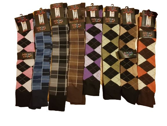 Zakolanówki damskie bawełniane grube 8 kolorów romby i w kratę