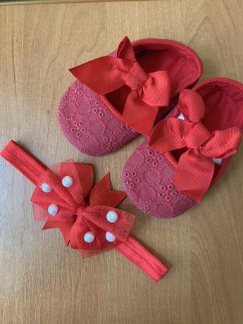 Детские топики, пинетки, туфельки