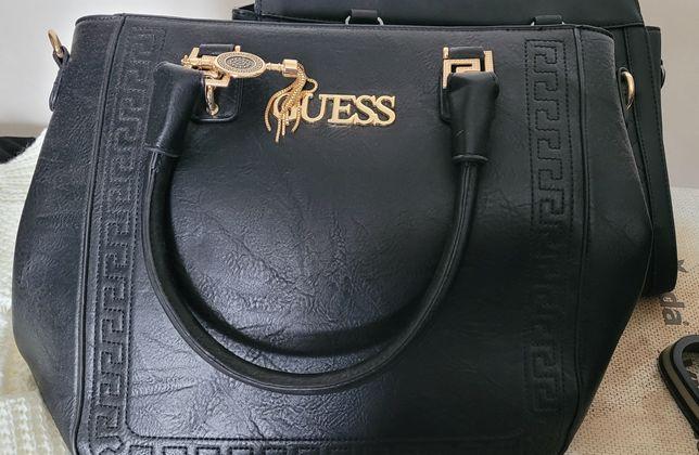 Dwie torebki z logo guess
