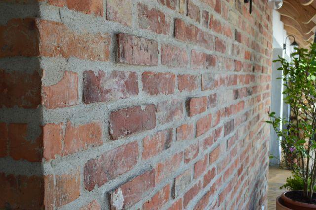 Cegła cięta stara cegła płytki z cegły