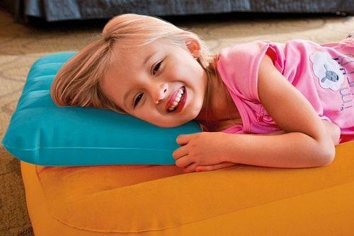 Дитяча надувна Подушка Intex68676. Надувная флокированая подушка Intex