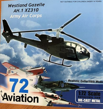 Helicoptero Diecast metal Aviation72 Gazelle AH.1 XZ310