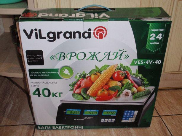 Весы торговые аккумуляторные до 40кг ViLgrand VES-4V-40