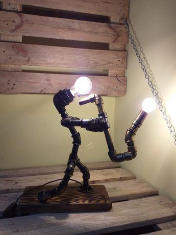Светильник, лампа из труб в стиле Лофт, Стимпанк. Отличный подарок.